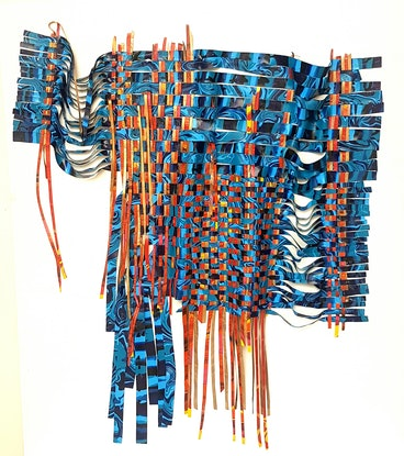 (CreativeWork) Unravelled Paint Textile by Julee Latimer. Acrylic Paint. Shop online at Bluethumb.