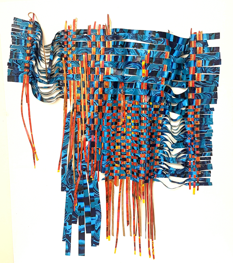 (CreativeWork) Unravelled Paint Textile by Julee Latimer. acrylic-painting. Shop online at Bluethumb.