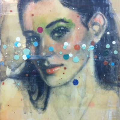 (CreativeWork) FRECKLE FACE #2 by LAURIE MCKERN. mixed-media. Shop online at Bluethumb.