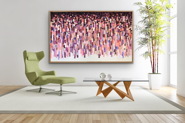 (CreativeWork) Christobell 200x122 framed large abstract by Sophie Lawrence. Acrylic Paint. Shop online at Bluethumb.