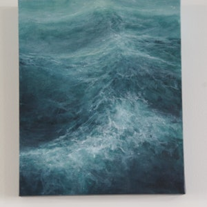 (CreativeWork) Storm Waves by GEOFF WINCKLE. acrylic-painting. Shop online at Bluethumb.