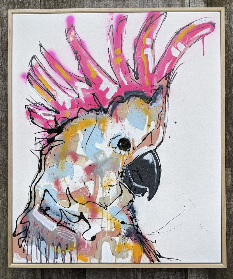 (CreativeWork) Not My Perch by Aidan Weichard. Mixed Media. Shop online at Bluethumb.