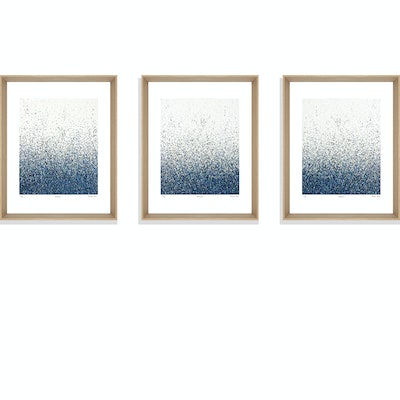 (CreativeWork) Silent Seas      series of 3 framed limited edition prints  Ed. 6 of 75 by George Hall. print. Shop online at Bluethumb.