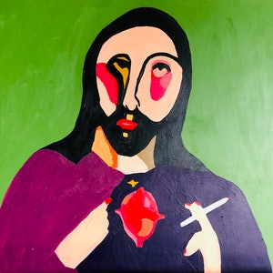 (CreativeWork) Cross my heart and hope to die by Sharon Monagle. acrylic-painting. Shop online at Bluethumb.