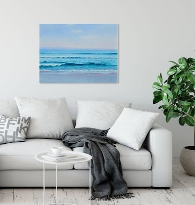 (CreativeWork) SAPPHIRE OCEAN  by Jan Matson. Oil Paint. Shop online at Bluethumb.
