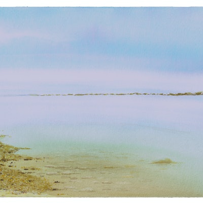 (CreativeWork) Wappett Creek by Harry Lea. watercolour. Shop online at Bluethumb.