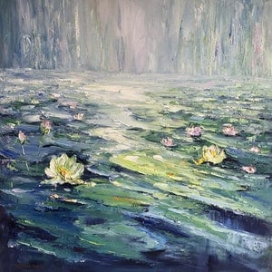 (CreativeWork) Water lilies No 11 by Liliana Gigovic. #<Filter:0x00007f6e4889e028>. Shop online at Bluethumb.