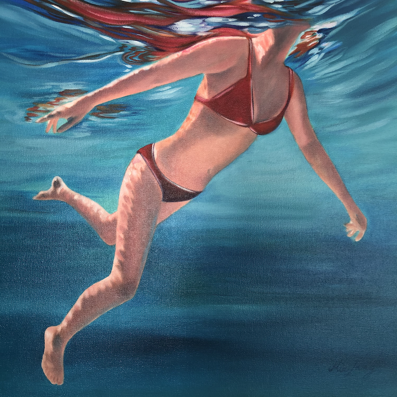 (CreativeWork) Move With The Sea by Mia Laing. oil-painting. Shop online at Bluethumb.
