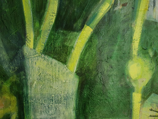 (CreativeWork) New Growth by Karen Cipressi. Oil Paint. Shop online at Bluethumb.