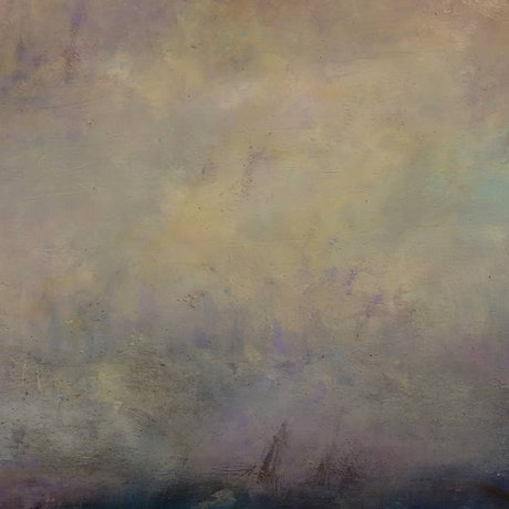(CreativeWork) Seascape  by Matt Simmo. Oil Paint. Shop online at Bluethumb.