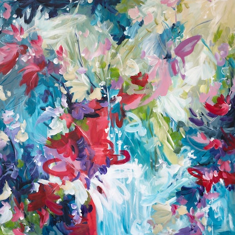 (CreativeWork) Summer Radiance by Amber Gittins. Acrylic Paint. Shop online at Bluethumb.