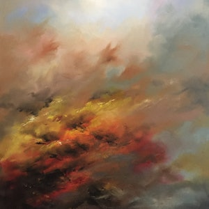 (CreativeWork) Wonder by Victoria Easby. oil-painting. Shop online at Bluethumb.