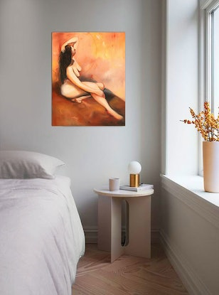 (CreativeWork) Raw Amber by maria radun. Oil Paint. Shop online at Bluethumb.