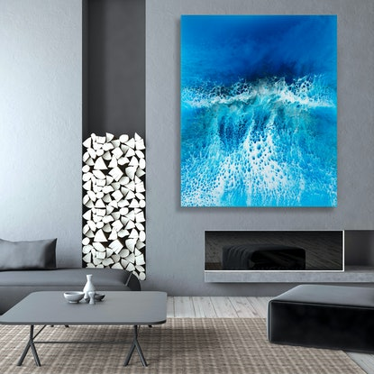 (CreativeWork) Silver Lining by Martine Vanderspuy. #<Filter:0x00007fc1e957f028>. Shop online at Bluethumb.