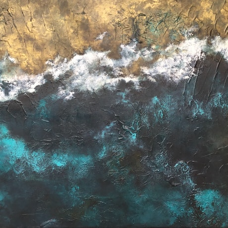 (CreativeWork) Mystery of Ocean by Magdalena Knight. Acrylic Paint. Shop online at Bluethumb.
