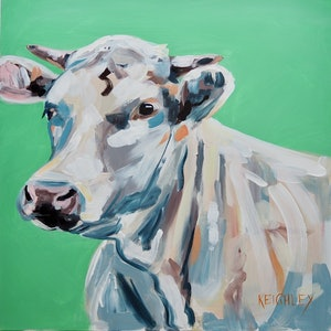 (CreativeWork) Finley  by Michelle Keighley. acrylic-painting. Shop online at Bluethumb.