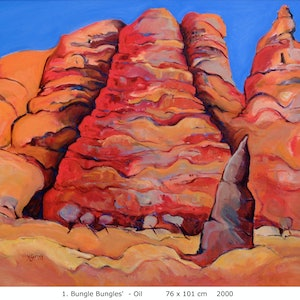 (CreativeWork) Bungle Bungles 2 by Margaret Gurney. Oil Paint. Shop online at Bluethumb.