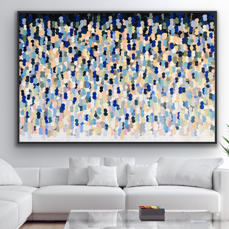 (CreativeWork) Americano 183x122 framed large abstract by Sophie Lawrence. Acrylic Paint. Shop online at Bluethumb.