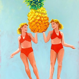(CreativeWork) Heroing the Pineapple by Maz Dixon. #<Filter:0x00007fb4712b1498>. Shop online at Bluethumb.
