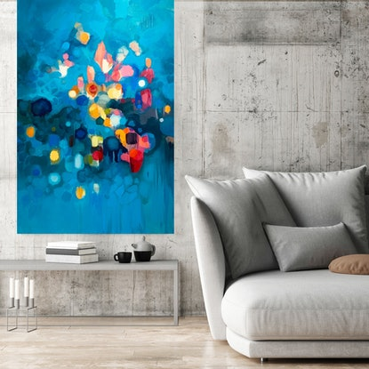 (CreativeWork) Night Air Song by Louise Isackson. Oil. Shop online at Bluethumb.