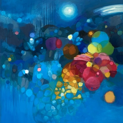 (CreativeWork) Light Symphony in G by Louise Isackson. oil-painting. Shop online at Bluethumb.