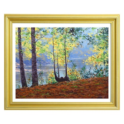 (CreativeWork) River through the trees, Tumut by Graham Gercken. #<Filter:0x00007f7327885440>. Shop online at Bluethumb.