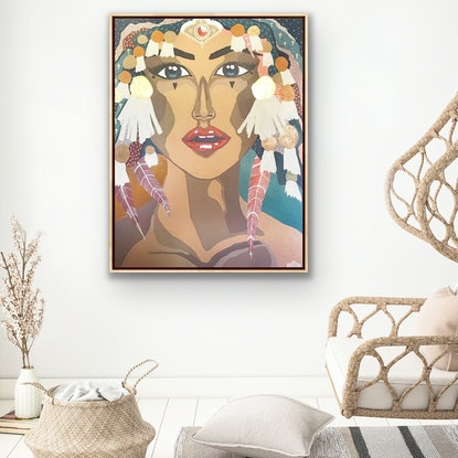 (CreativeWork) Boho Queen  by Angelika Pacek. Acrylic Paint. Shop online at Bluethumb.