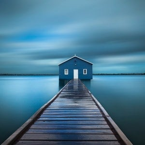 (CreativeWork) Crawley Edge Boatshed Ed. 4 of 4 by Piers Buxton. photograph. Shop online at Bluethumb.