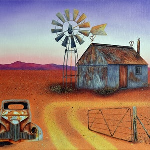 (CreativeWork) Somewhere Downunder by Luna Vermeulen. oil-painting. Shop online at Bluethumb.