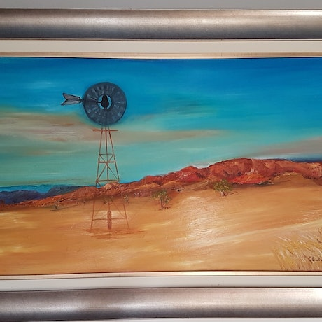 "(CreativeWork) ""Desolation"" by Glenda McLachlan. Oil Paint. Shop online at Bluethumb."