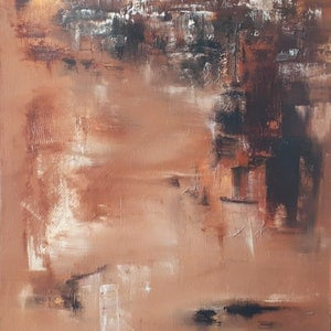 (CreativeWork) Pink Sienna Umber by Scott Maxwell. oil-painting. Shop online at Bluethumb.