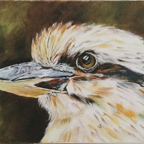 (CreativeWork) Kevin by Teresa Verney. Acrylic Paint. Shop online at Bluethumb.