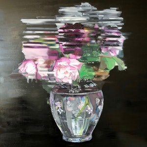 (CreativeWork) Abstract Flowers (Roses into the Real) by Nicole Sacks. #<Filter:0x00007f1f80927358>. Shop online at Bluethumb.