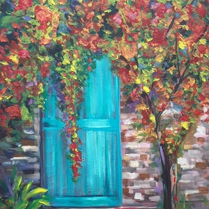 (CreativeWork) A Touch of Turquoise by Jenny Moynahan. acrylic-painting. Shop online at Bluethumb.
