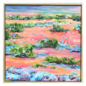 (CreativeWork) Mallee Country - Painted Landscape Series  by Eve Sellars. #<Filter:0x00007f970c741148>. Shop online at Bluethumb.