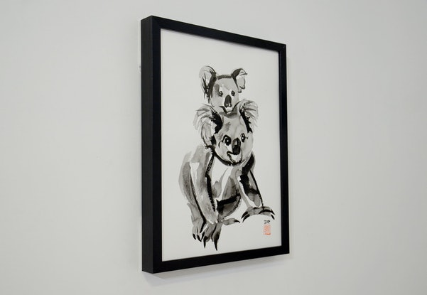 (CreativeWork) Koala and Joey by Donald Paull. Drawings. Shop online at Bluethumb.
