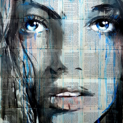 (CreativeWork) BLUE SWAY by loui jover. drawing. Shop online at Bluethumb.