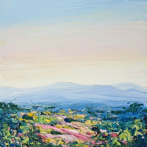 (CreativeWork) Love Of The Mountains - Framed - Landscape by Angela Hawkey. oil-painting. Shop online at Bluethumb.