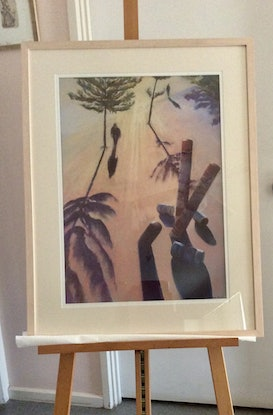 (CreativeWork)  Evening Shadows by Robin Hicks. Drawings. Shop online at Bluethumb.