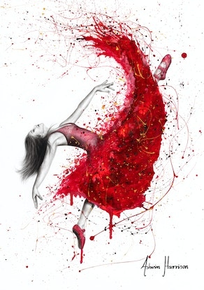 (CreativeWork) Contemporary Passion Ballerina by Ashvin Harrison. #<Filter:0x0000564cc10adc28>. Shop online at Bluethumb.