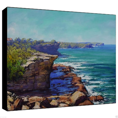 (CreativeWork) Bondi to Coogee view by Graham Gercken. Oil Paint. Shop online at Bluethumb.