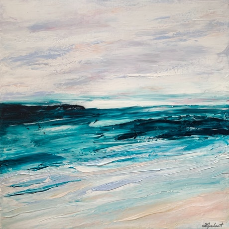 (CreativeWork) Surrender - SALE PRICE by Sharon Rynehart. Acrylic Paint. Shop online at Bluethumb.