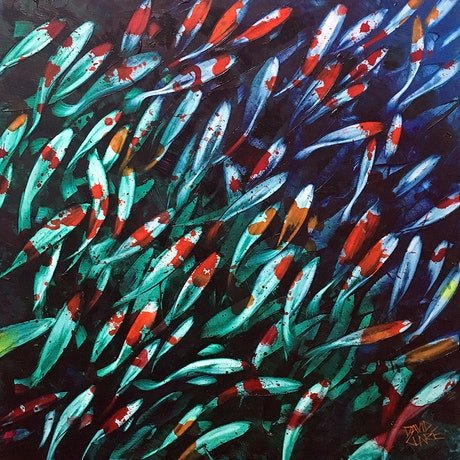 (CreativeWork) Plenty Of Fish In The Pond 2 by David Clare. Oil Paint. Shop online at Bluethumb.