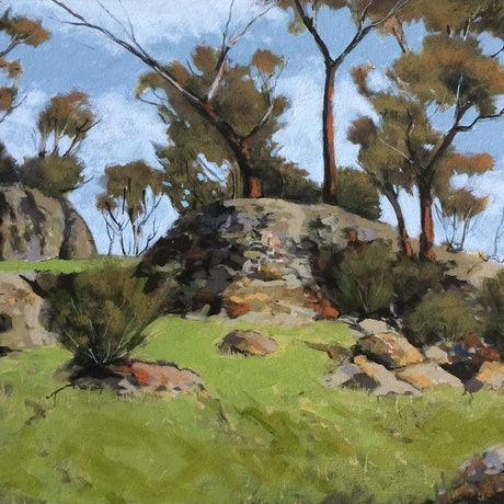 (CreativeWork) Boomerang Gorge - Yanchep National Park W.A. by Lyn Lee. Acrylic Paint. Shop online at Bluethumb.