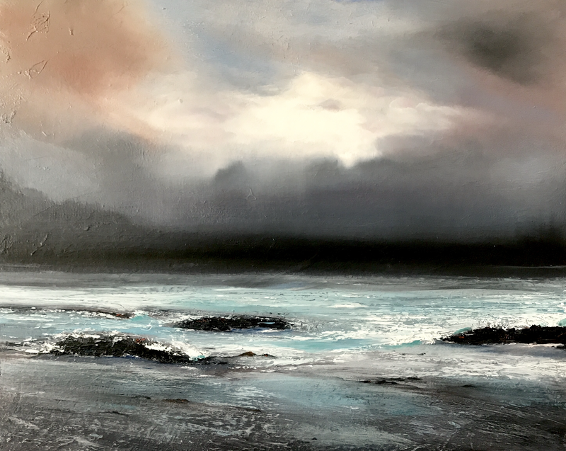 """(CreativeWork) """"SHIFTING LIGHT"""" by Geoffrey Pike. oil-painting. Shop online at Bluethumb."""