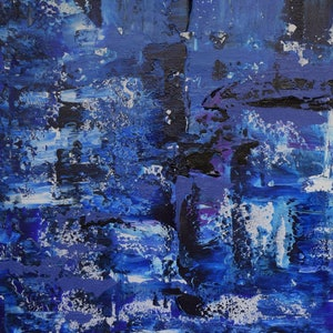 (CreativeWork) Ocean Canyons No.1 by Ric Connors. acrylic-painting. Shop online at Bluethumb.