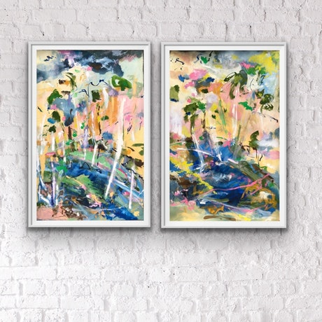 (CreativeWork) Together by the Rivers Edge by Jane Thompson. Other Media. Shop online at Bluethumb.