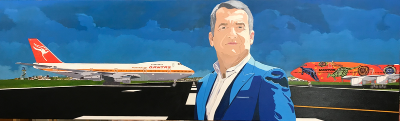 (CreativeWork) The Ideal Aircraft.  by Yianni Johns. Oil Paint. Shop online at Bluethumb.