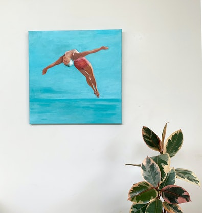 (CreativeWork) SWAN DIVER 2 by TeMoana .. Oil Paint. Shop online at Bluethumb.