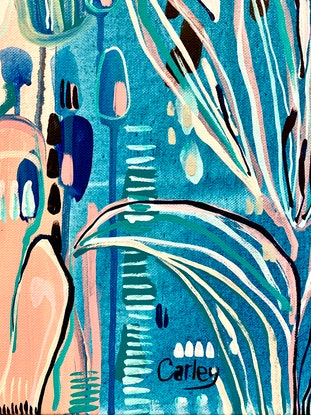 (CreativeWork) Palm Azure   Limited Edition Fine Art Print  Ed. 1 of 25 by Carley Bourne. Print. Shop online at Bluethumb.